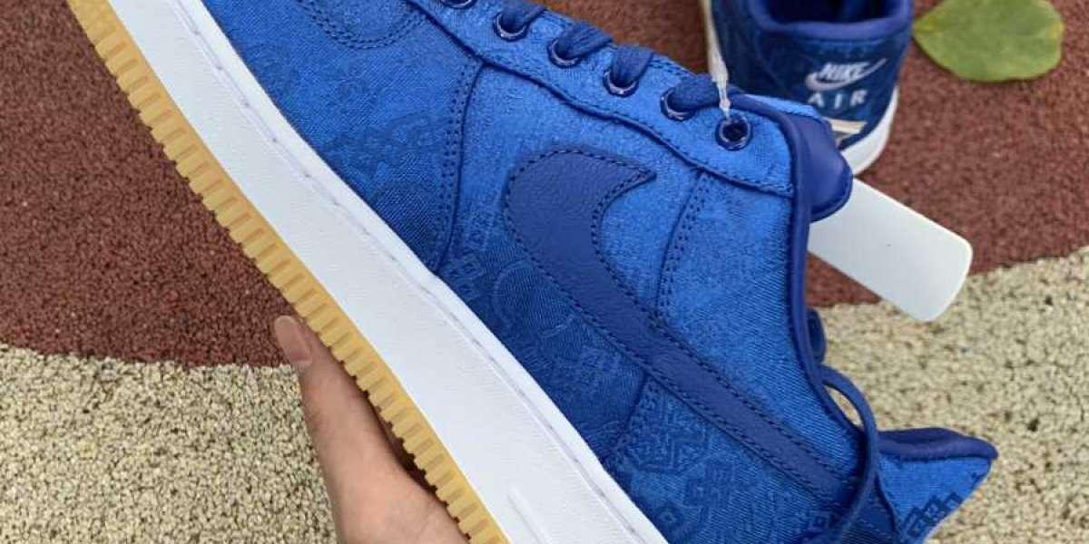 2020 Nike Air Force 1 Low CLOT Blue Silk CJ5290-400 New Release